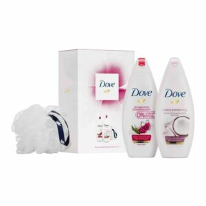 Dove Relaxing Beauty Body Wash Duo Gift Set With Bath Puff